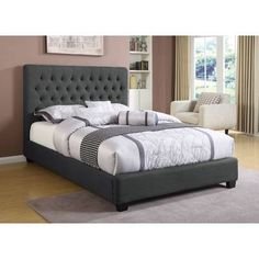 8a84b847b63248 Darby Home Co Croce Upholstered Panel Bed & Reviews | Wayfair