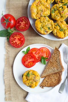 These scrambled egg muffins make a healthy, easy, and portable on the go breakfast! Make a batch on Sunday and eat them all week.