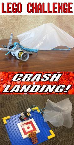 Lego Challenge–Crash Landings – The Lego Librarian Lego Creationary, Lego Craft, Lego Toys, Lego Minecraft, Legos, Lego Batman, Minecraft Skins, Minecraft Buildings, Diy Toys And Games
