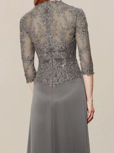 mother of the groom dress_Charcoal Wedding Dress For Short Women, Mother Of The Bride Dresses Long, Mothers Dresses, Tea Length Dresses, Short Dresses, Dresses With Sleeves, Special Dresses, Special Occasion Dresses, Long Sleeve Evening Dresses