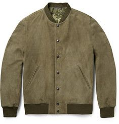 #RichardJames' suede bomber jacket is the ideal complement to sophisticated weekend looks.