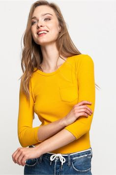 Yellow Top with Pocket