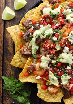 These surf 'n turf nachos that wanted the best of both worlds…and got it: | 21 Nachos That Changed The World In 2014