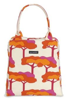 Pink and orange Marimekko bag.