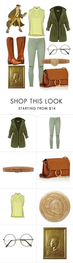 """""""Milo Disneybound"""" by yao-fashion ❤ liked on Polyvore featuring WithChic, Joe's Jeans, Etro, Chloé, Fred Perry, Burberry and ZeroUV"""