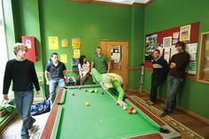 Pool room, Dublin Hostel