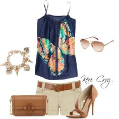 Summer fashion. I wouldn't wear heels with that tho.