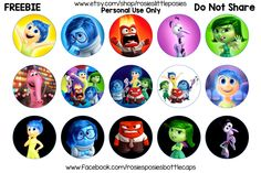 Inside Out free bottle cap images. Click to download full size image. Freebie printable