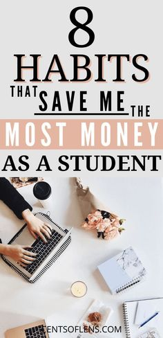 Are you a student who wants to learn how to save more money? Do you want to know how to live more comfortably on a student budget? Find out which 8 habits save me the most money as a student! Best Money Saving Tips, Ways To Save Money, How To Get Money, Money Tips, Saving Money, Money Hacks, Earn Money, College Student Budget, College Life Hacks