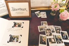 everyone takes a photo of themselves, and leaves a message for the bride and groom :)