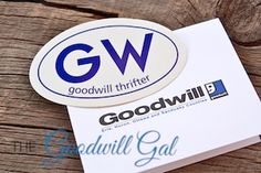 GW Goodwill Thrifter Bumper Sticker. Thanks Goodwill Squad!  #thrift @goodwillsquad