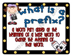 31 Prefix/Suffix Mini Posters (Hollywood/Movie Theme) product from The-Happy-Teacher on TeachersNotebook.com