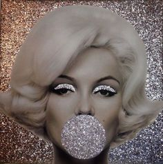 Awesome Glitter Marilyn Image!LOVE THIS!