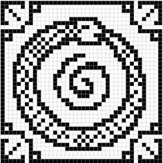 WitchWolfWeb Creations: world serpent (oroborus) free cross stitch - for Sam! Filet Crochet Charts, C2c Crochet, Tapestry Crochet, Knitting Charts, Knitting Stitches, Knitting Patterns Free, Knitting Ideas, Free Knitting, Perler Patterns