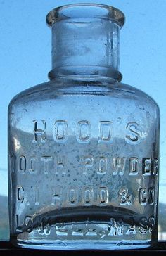 Nice antique HOOD'S TOOTH POWDER  Lowell by LastChanceAntiques, $25.00