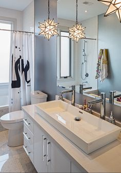 Image from Houzz.  Like the idea of two taps and one sink.