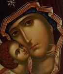 Our Lady of Vladimir Byzantine Icons, Byzantine Art, Blessed Mother Mary, Blessed Virgin Mary, Religious Icons, Religious Art, Christian Artwork, Russian Icons, Religious Paintings