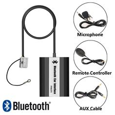 APPS2Car Hands-Free Bluetooth Car Kits USB Auxialiary Input Mp3 Adapter for Volkswagen Jetta 2003-2011