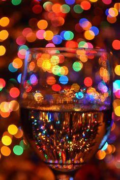 Wine and bokeh