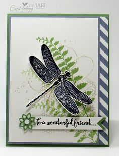 I used the Dragonfly Dreams Bundle, Butterfly Basics and Gorgeous Grunge from Stampin' Up! to create my card for today.