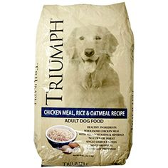 Triumph Chicken, Rice and Oat Dog Food, 40 lb. Bag @ You can learn more by visiting the image link. (This is an affiliate link and I receive a commission for the sales) Stew Chicken Recipe, Chicken Rice, Chicken Recipes, Chicken Dog, Healthy Oatmeal Recipes, Oats Recipes, Dog Food Recipes, Canned Dog Food, Dog Food Brands