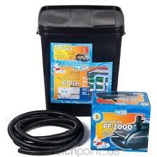 Teichfilter BioFilter Set 10.000, Koi Teich Filter Pumpe Komplettset komplett