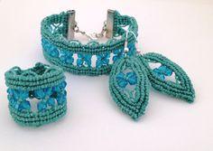 bracciale anello orecchini macrame fatto a mano made in Italy