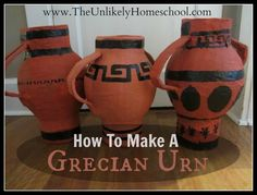 Greece Unit:  How to Make a Paper Mache Grecian Urn-The Unlikely Homeschool
