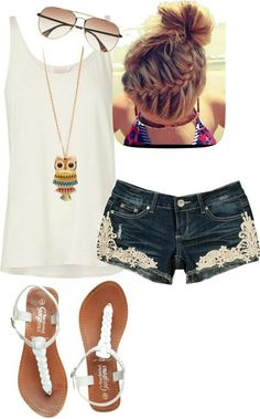 Summer style - love the shorts!