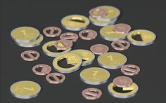 Practical Infographic Coins Feature Pie Chart for The Inner Part
