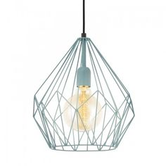 This is a one light ceiling pendant from the Carlton range by Eglo. The 49259 is a vintage mint green ceiling pendant. Cage Pendant Light, Cage Light, Ceiling Pendant, Pendant Lighting, Ceiling Lights, Luminaire Suspension Design, Luminaire Design, Interior Lighting, Home Lighting