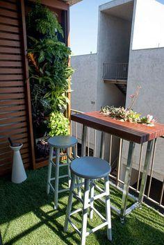 Decorar el balcón con taburetes #decoracion #exteriores