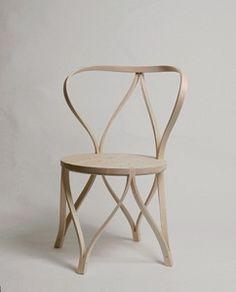 Silla de madera curvada, accesorios, muebles con estilo, decoración - copia