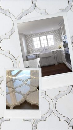 Pure White Thassos marble imported from Greece is used in the Moroccan Arabesque Lantern shape. Italian Bianco Carrara White CD, imported from the Tuscany region of Italy, separates each lantern with the most beautiful grey border. Both materials are polished for a shiny, flawless finish.With a brilliant shine and light-capturing capabilities, polished marble is the perfect accent for design projects seeking to wow viewers. Indoor kitchen & bathroom backsplashes, accent walls, surrounds.