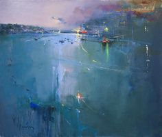 Harbour Lights Fowley by Peter Wileman
