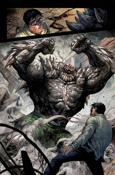 "Doomsday is a seemingly unstoppable behemoth who adapts his physical form to overcome and destroy anything or anyone in his path. He is best known for being the murderer of Superman in the ""Death of Superman"" storyline. Doomsday Comics, Superman Doomsday, Superman Comic, Batman Comics, Comic Book Characters, Comic Character, Make A Comic Book, Gi Joe, Hulk Art"