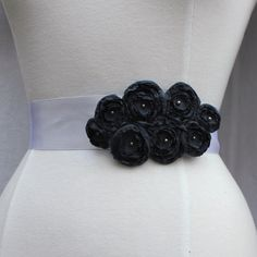Custom Color Flower Bridal Sash