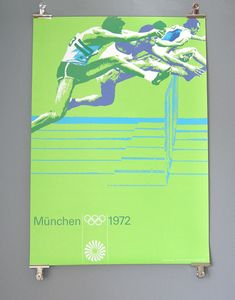 Otl Aicher and the 1972 Munich Olympics - Hurdles Poster