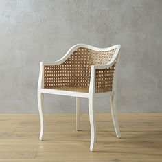 tayabas cane side chair - these chairs are so cute! a perfect blend of modern and vintage with the modern shape and vintage-style caning.