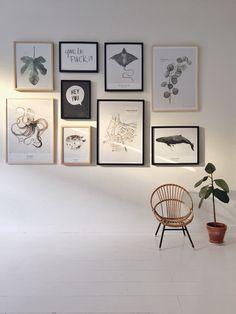 Wall art •  By My Deer Art Shop #rockthatwall #kunst #art #wallart #mydeerartshop #frames #watercolor