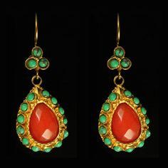 Drop Earrings Orange