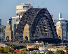 Sydney Harbour Bridge from Neutral Bay, Sydney, NSW, Australia