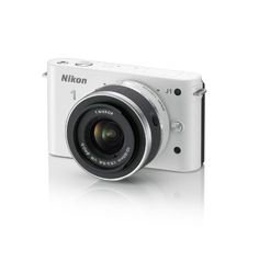 Nikon 1 J1 Digital Camera System with 10-30mm Lens (White) (OLD MODEL)