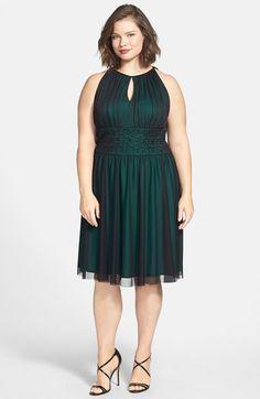 Jessica Howard Embellished Waist Shirred Dress (Plus Size) | Nordstrom