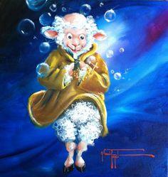 Sheep Incognito Original Deep Friar Painting by SheepIncognito, $595.00