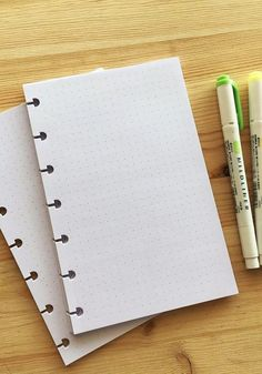 Dot Grids Planner Pages, available in 4 sizes, Discbound Bullet journal ready! Available in Letter, Mid, Junior, Mini. Compatible with Happy Planner, Erin Condren Etc.