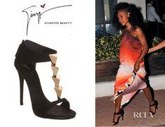 Jada Pinkett-Smith's Giuseppe Zanotti Pyramid Studded T-Strap Sandals