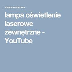 lampa oświetlenie laserowe zewnętrzne - YouTube