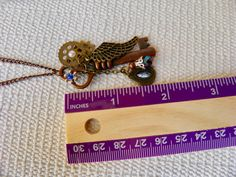 Steampunk Necklace/Vintage Style/Key by KeyofMyHope on Etsy