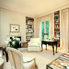 Library in the Washington DC home of the Blairs -- design by Billy Baldwin